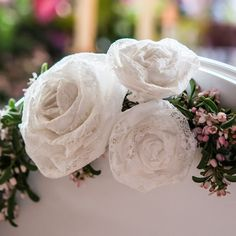 Kanten bloemen medium