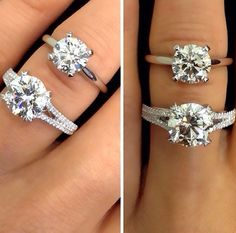 Which diamond engagement ring do you prefer: a micro pave split band or a traditional solitaire setting? Explore our countless collections at TWO by London Americana Manhasset.
