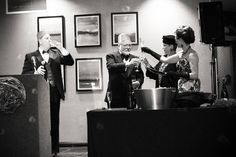 Master Sommelier Catherine Fallis serving Moet Imperiale to Guests of Honor Shutterfly, Champagne