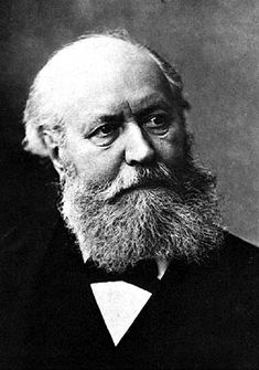 The man with the huge beard is Gounod, a composer who was as talented at ripping his contemporaries to shreds as he was at writing comedic Opera.