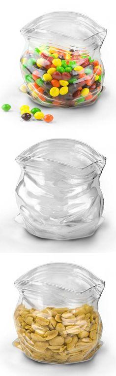 Glass Candy Ziploc Bowl ❤︎ Great For Dips & Quacamole