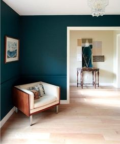Dark blue-green - love this color for an accent wall