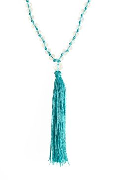 beaded tassel layering necklace