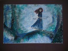 Ribelle the brave: il coraggio di una combattente -Dipinto su tela