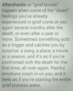 Nasty painful aftershocks take you right back to the dreadful moment