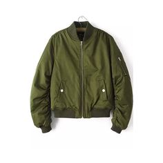 Rotita Pocket Embellished Long Sleeve Army Green Jacket ($42) ❤ liked on Polyvore featuring outerwear, jackets, green, army green jacket, pattern jacket, embellished jacket, pocket jacket and zip jacket