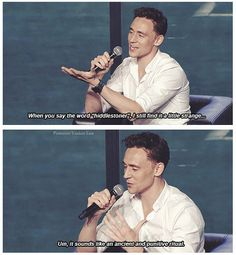 Tom Hiddleston.  This was so much more humorous after I looked up the meaning of the word 'punitive'