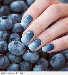 Great play on blueberries to match your denim look