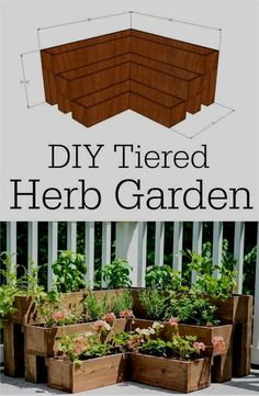 Tiered Herb Garden | Backyard Ideas for Small Yards To DIY This Spring #herb garden