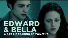 """Edward and Bella"" — A Bad Lip Reading of Twilight. Oh my word.. I just watched this and could NOT stop laughing."
