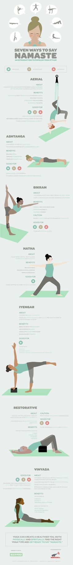 "7 ways to say ""Namaste"": an infographic intro to popular yoga styles"
