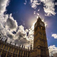 The Big Ben in London on a beautiful sunny day. #GoPro #city #london #UK #bigben #travel #wanderlust