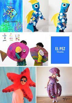 """Disfraces para niños cuentos infantiles """"El Pez Arcoiris"""""""