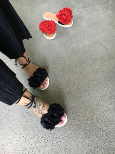 Mister'n'Miss Sable Sable Black Lace Up Sliders. Slide sandals. Fur slides. We're embracing the trend for the serious shoe lovers with these lust worthy style and must-have sliders.