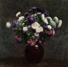 Henri Fantin-Latour, Asters in a Vase, St Louis Art Museum