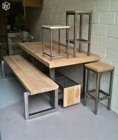 Tabouret banc bar industriel madinpariss
