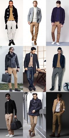 2014 Autumn/Winter Men's Fashion Guide: Ways To Wear Camel Knitwear/Chinos Lookbook Inspiration