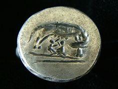 ROMAN LEGIONARY RING OF THE VI FERRATA 89 AD to 96 AD