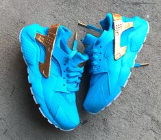 Skyy Blue Nike Huarache Custom