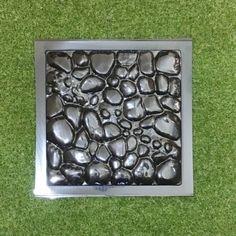 2 Pcs Plastic MOLDS For Concrete Garden Stepping Stone Path Patio MOULDS  CEMENT