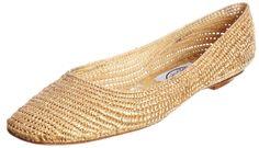 Emma Hope Women's Raffia Chisel Ballet Gold Ballet 571-11076 3 UK