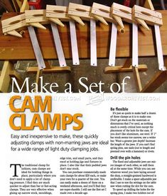 DIY Cam Clamp - Clamp and Clamping