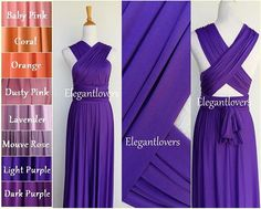 Colorful Dress Light Purple Women Prom Wedding Dress Bridesmaid Dress Infinity Dress Evening Cocktail Party Maxi Elegant Prom Bridal Dresses