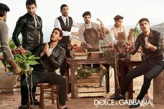 Dolce Gabbana men Spring Summer 2014. The greatest ads ever; the mannerisms, the expressions- D&G knows Italians.
