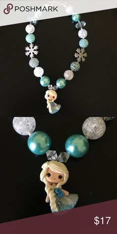 ⭐️SALE⭐️Elsa chunky bubblegum necklace Handmade, high quality Elsa chunky bubblegum necklace. Simply pair with your little cuties outfit or as a prop for a photo shoot! Disney Accessories Jewelry