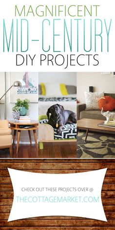 Magnificent Mid-Century DIY Projects - The Cottage Market
