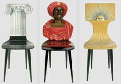 design conceptuel, Fornasetti, chairs