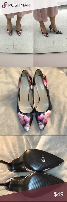 Nine West flower print pump / floral heels Nine West flower print pump New without tag, no box  Beautiful flower print shoes  Never worn outside! Kept in my closet.  Heels : 4 inches   ** has some scratches bottom soles from store, tried on** Nine West Shoes Heels