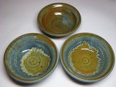 Studio Art Pottery Mystery Artist Stoneware Bowl Trio Mid Century Modern Eames | eBay