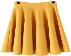 Pleated Flare Yellow Skirt