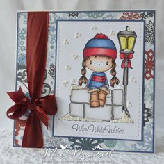 Fuzzy Boots Card by DT Member Mae - Scrapbook.com