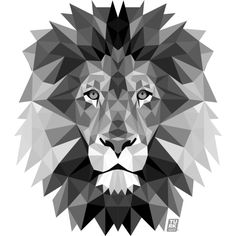 Image result for geometric lion