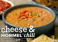 Cheese and Hormel Chili Dip #cheese #chili #dip #HFBigGameBites