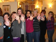 Fun Learning Vertical Zones as part of Hand #Reflexology Workshop. www.AmericanAcademyofReflexology.com