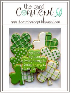 The Card Concept: The Card Concept #50 {Shamrocks, Patterns & Greens}