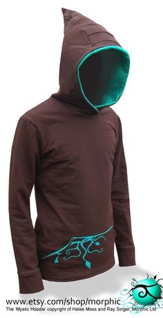 Hey, I found this really awesome Etsy listing at https://www.etsy.com/listing/61085058/mens-mystic-hoodie-chocolate-turquoise