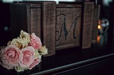 Wooden monogram with soft flowers Wooden Monogram, Connection, Parenting, Wedding Photography, Magazine, Flowers, Blog, Wood Monogram, Magazines