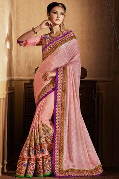 Ravishing Rose Pink Saree