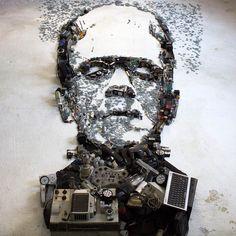 Les créations en anamorphose de l'artiste brésilienChristian Pierini, aka Mister C, qui recrée des portraits de stars et de célébritésen assemblant de