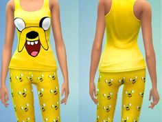 The Sims Resource: Jake Pjs for Women by Lanessear • Sims 4 Downloads