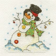 Christmas mini cross stitch kits are available from DMC stockists. Perfect for a personalised gift or Christmas card.