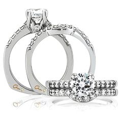 Signatue Style!! A. Jaffe Engagement Ring MES097 / 128 for about $2,130