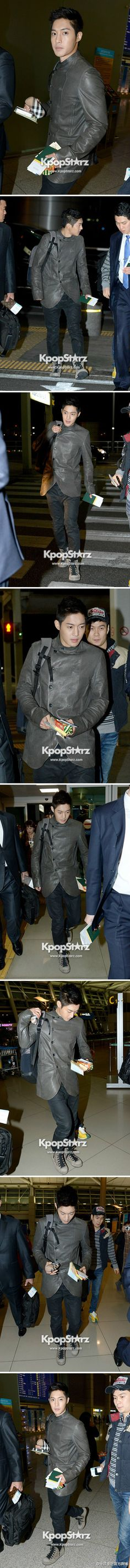 Kim Hyun Joong before his appearance at the 2K13FEELKOREA event in Brazil