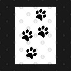 Check out this awesome 'Black+Paw-prints+on+a+white+surface' design on @TeePublic! Paw Prints, Blue Butterfly, Surface Design, Awesome, Check, Stuff To Buy