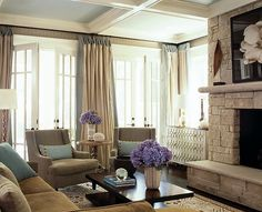 amazing living room space - especially the french doors and fireplace!