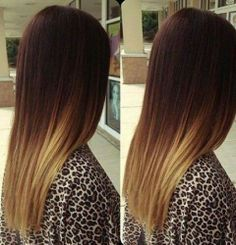 Ombre hair. Dark to light